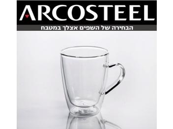 סט 6 כוסות דופן כפולה בנפח 330 מ