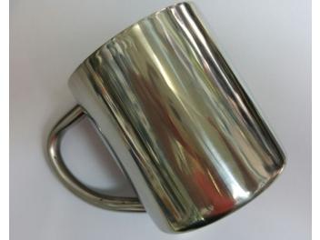 כוס נירוסטה+ידית דופן כפולה 220 מ