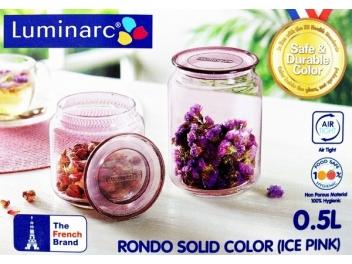 צנצנת לומינארק דגם רונדו 0.5 ליטר צבע ורוד