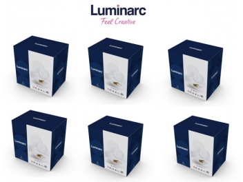 מארז 10 מערכות אוכל לומינארק דיואלי לבן נשלח רק בערי המרכז פרטים במוצר