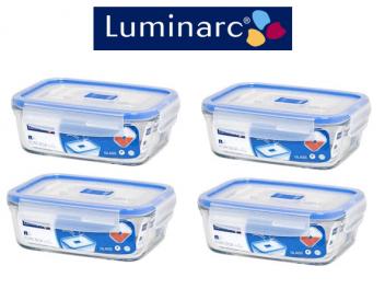 סט 8 חלקים לומינארק PureBox Active מלבן 1.22 ליטר