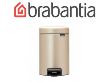 פח פדל 3 ליטר בצבע שמפניה Brabantia - NewIcon + שקית אשפה ברבנטיה מתנה