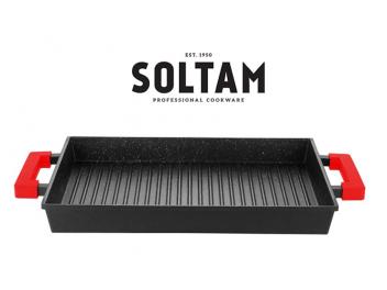 פלטת צלייה מלבנית מסדרת Mineral Stone סולתם SOLTAM