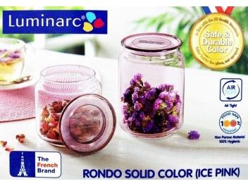 צנצנת לומינארק דגם רונדו 1 ליטר ורוד