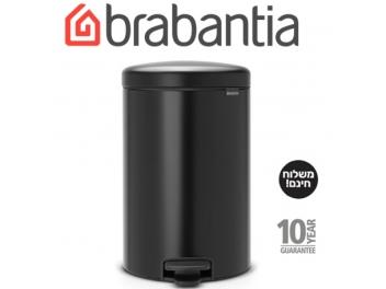 *כולל משלוח עד הבית* פח פדל 20 ליטר שחור מט Brabantia - NewIcon