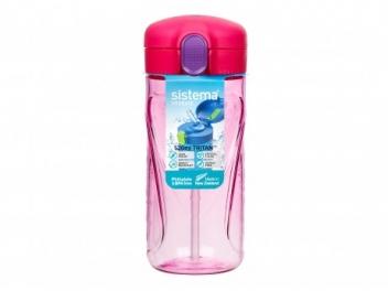 בקבוק טריטן עם קש סיסטמה 520 מ״ל Quick Flip צבע ורוד