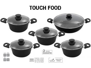 סט סירים 10 חלקים TOUCH FOOD MARBLE STONE