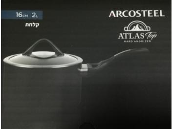 קלחת ארקוסטיל אטלס 16 ס״מ,2 ליטר עם מכסה