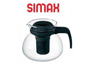 קנקן זכוכית לחליטת תה 1.5 ליטר+מכסה שחור סימקס SIMAX