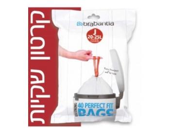 קרטון שקיות קוד J לפח הפרדה פנימי BO טאץ 23 ליטר ולפח הפרדה 25 ליטר - 400 יח׳ Brabantia