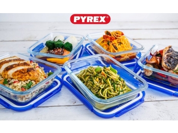 סט 10 חלקים פיירקס Pyrex Cook And Go נפח 0.8 מלבן ליטר קוק אנד גו זכוכית