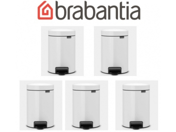 מארז 5 יחידות פח פדל 3 ליטר לבן Brabantia - NewIcon