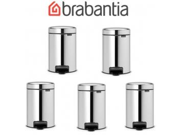 מארז 5 יחידות פח פדל 3 ליטר מבריק Brabantia - NewIcon