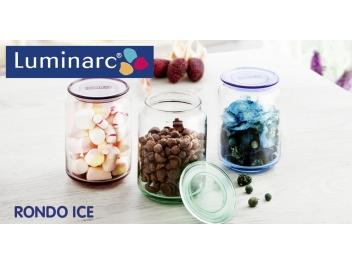 צנצנת לומינארק דגם רונדו 0.5 ליטר צבע ירוק זכוכית