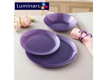 מערכת אוכל 18 חלקים לומינארק דגם Arty סגול Luminarc