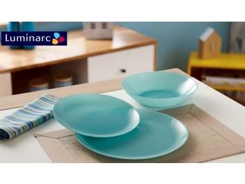 מערכת אוכל 18 חלקים לומינארק דגם Arty Soft Blue