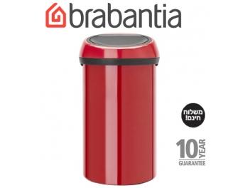 *כולל משלוח עד הבית* פח טאץ 60 ליטר אדום תשוקה Brabantia