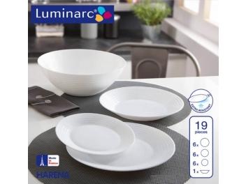 מערכת אוכל 19 חלקים לומינארק דגם ארנה לבן