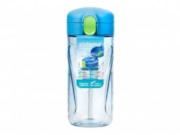 בקבוק טריטן עם קש סיסטמה 520 מ״ל Quick Flip צבע כחול