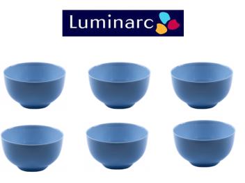 סט 6 קעריות מרק לומינארק דיואלי כחול 15 ס״מ