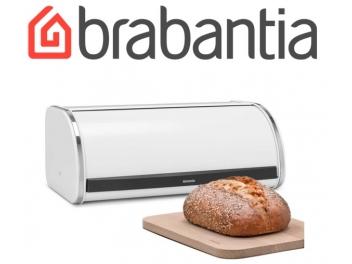 קופסת לחם גדולה, לבנה - מכסה מתגלגל Brabantia