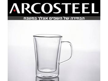סט 6 כוסות דופן כפולה נפח כל כוס 360 מ
