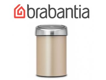 פח טאץ 3 ליטר זהב מטאלי, כולל תליה Brabantia