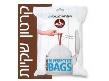 קרטון שקיות קוד L לפח אשפה 45-40 ליטר 300 יח׳ Brabantia