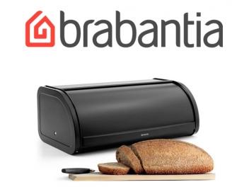 קופסת לחם גדולה, שחור מט - מכסה מתגלגל Brabantia