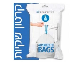 קרטון שקיות קוד E לפח אשפה 20 ליטר 480 יח׳ Brabantia