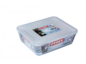 קופסאת אחסון פיירקס מלבנית 4 ליטר מכסה לבן