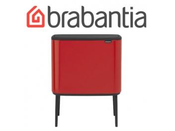 BO פח טאץ 36 ליטר, אדום תשוקה Brabantia + מטלית מיקרופייבר מתנה