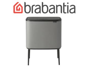BO פח טאץ 36 ליטר, אפור בטון מינרלי Brabantia ברבנטיה + מטלית מיקרופייבר מתנה