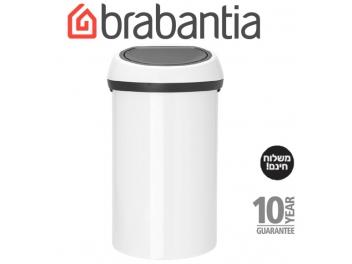 *כולל משלוח עד הבית* פח טאץ 60 ליטר לבן Brabantia