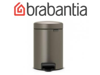 פח פדל 3 ליטר פלטינום Brabantia - NewIcon + שקית אשפה ברבנטיה מתנה