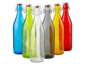 בקבוק זכוכית הרמטי בנפח של 1 ליטר Bormioli Rocco