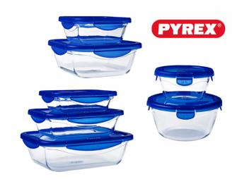 סט 14 חלקים פיירקס קוק אנד גו Pyrex Cook And Go זכוכית הכי זול בישראל בהתחייבות