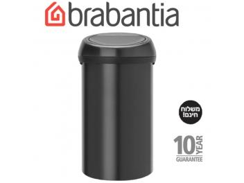 *כולל משלוח עד הבית* פח טאץ 60 ליטר שחור מט Brabantia