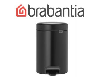 פח פדל 3 ליטר שחור מט Brabantia - NewIcon