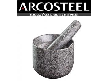 מכתש ועלי ארקוסטיל מאבן 12.5X10 ס