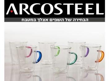 סט 6 כוסות דופן כפולה נפח כל כוס 340 מ