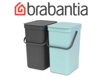 SORT & GO צמד פחי הפרדה 2*16 ליטר מינט / אפור - Brabantia