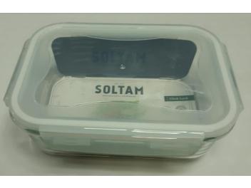 קופסאת אחסון מלבנית זכוכית 1 ליטר סולתם