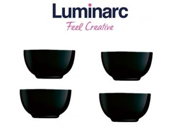 סט 4 קעריות מרק לומינארק שחור דיואלי
