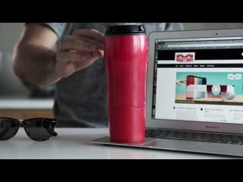 כוס טרמית שאינה נופלת Mighty Mug צבע שחור