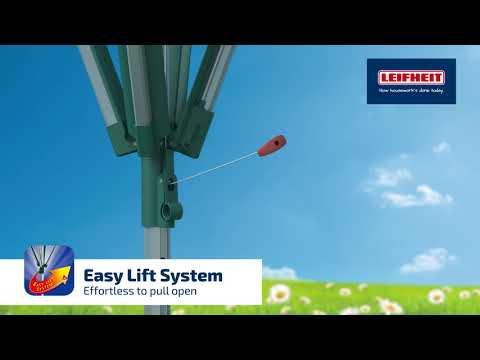 מתקן ייבוש כביסה לגינה קרוסלה LEIFHEIT לייפהייט דגם 82002 יבואן רשמי Linomatic Deluxe 600