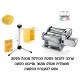 *משלוח חינם* ערכת פסטה 5 חלקים הכוללת מכונת פסטה חשמלית ATLAS MOTOR ומייבש פסטה