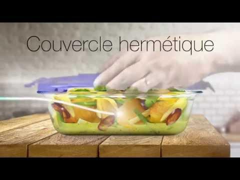 קופסאת אחסון פיירקס נפח 1.7 ליטר מלבנית קוק אנד גו Cook&Go זכוכית